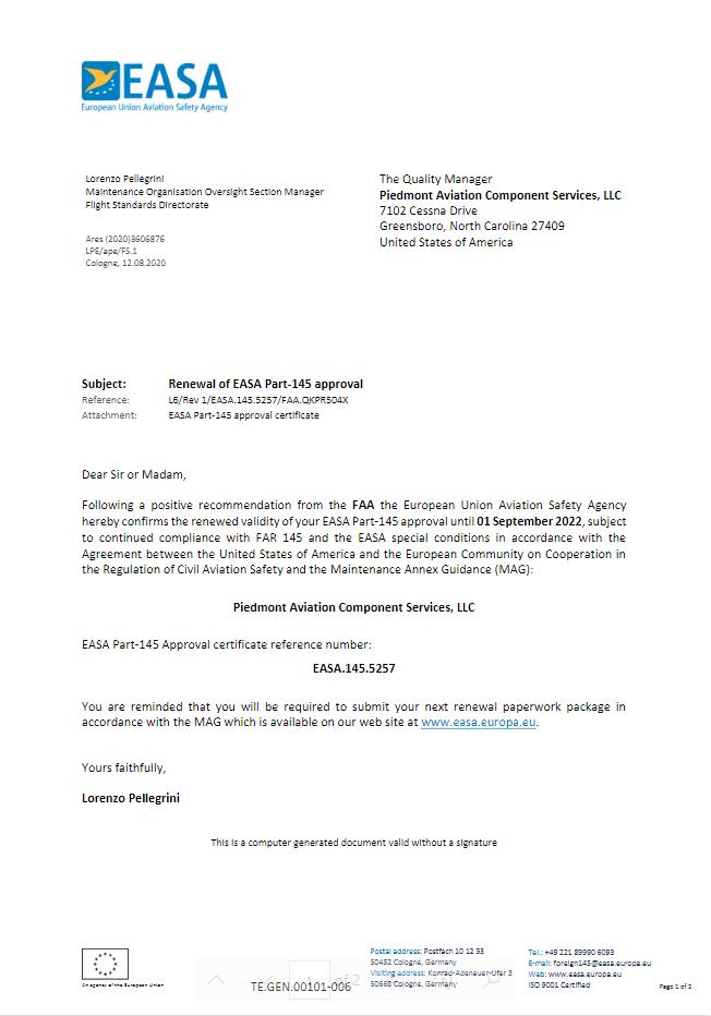easa-certificate